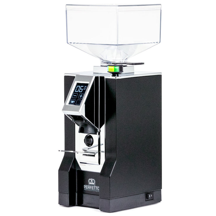 Eureka Mignon Perfetto espresso grinder in black, Clive Coffee - Knockout