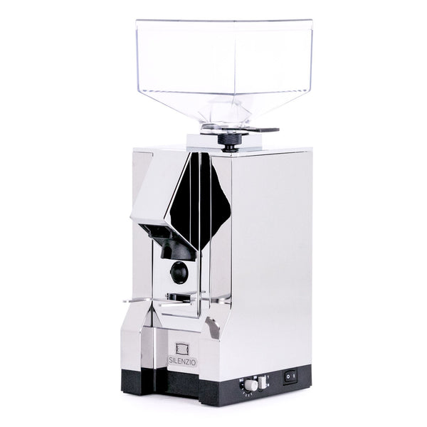 Eureka Mignon Silenzio espresso grinder chrome from Clive Coffee