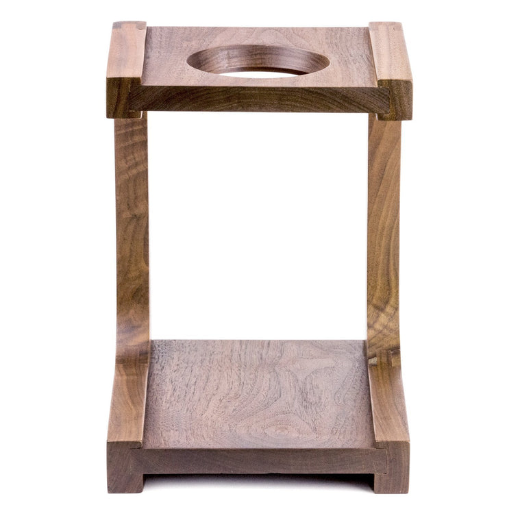 Wood Pourover Stand from Clive Coffee, front - Knockout