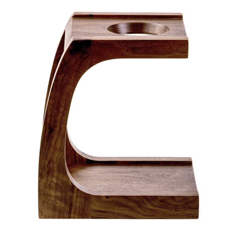 Wood Pourover Stand from Clive Coffee, side - Knockout