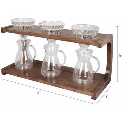 Pour Over Triple Stand from Clive Coffee dimensions - Product Image