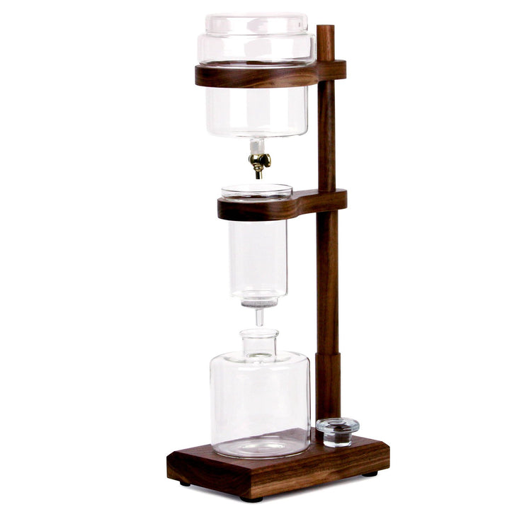 Clive Cold Brew Tower in walnut from Clive Coffee - Product Image
