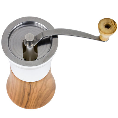 Hario Ceramic Coffee Mill top from Clive Coffee - Product Image