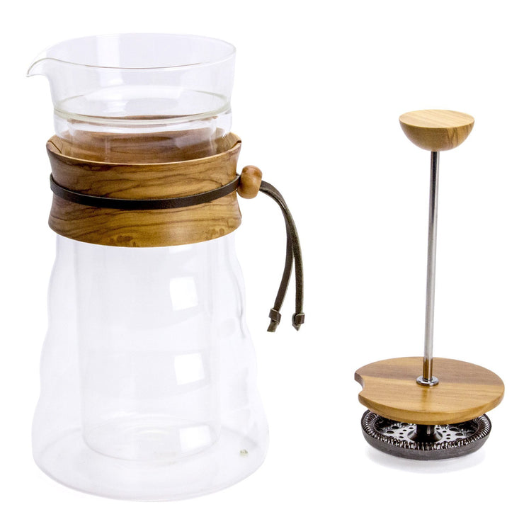 Hario Double Wall Glass Coffee Press from Clive Coffee - Product Image