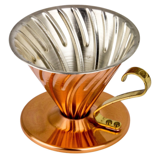 Hario V60 Copper Coffee Dripper, Clive Coffee - Knockout