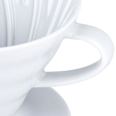 Hario V60 White Ceramic Coffee Dripper from Clive Coffee - Product Image