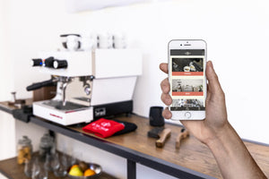 La Marzocco Linea Mini Espresso Machine Retrofit Kit app screen from Clive Coffee - lifestyle