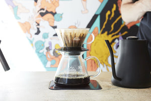Kalita Glass Server from Clive Coffee - Lifestyle Image