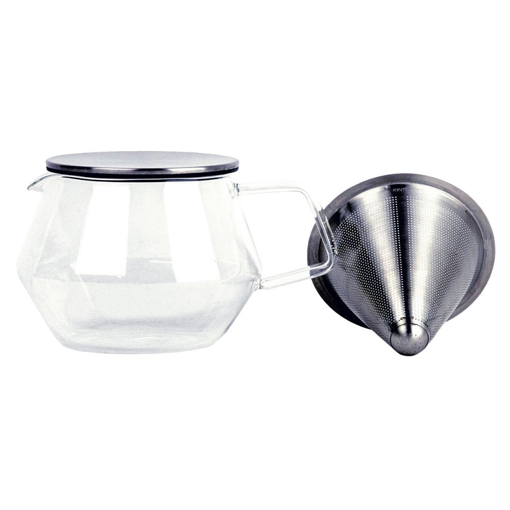 Kinto Carat Teapot side from Filter - Product Image
