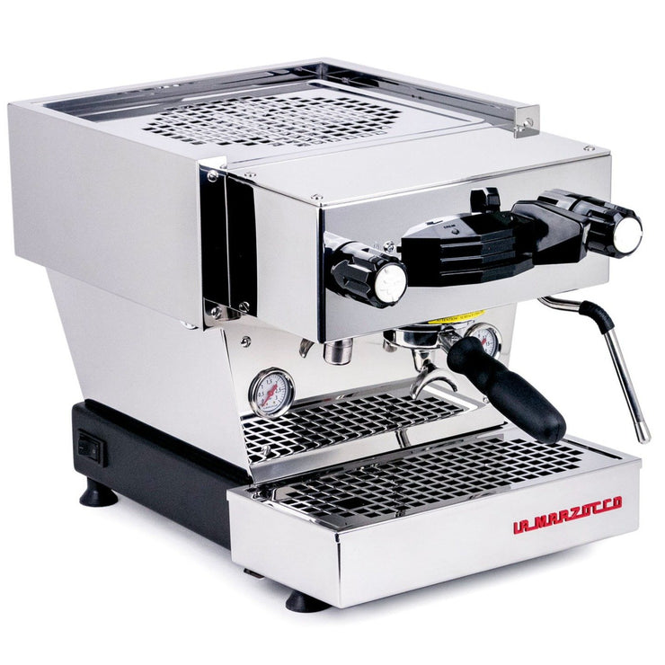 La Marzocco Linea Mini Espresso Machine in stainless steel, Clive Coffee - Knockout