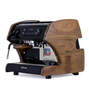Lucca A53 Mini Espresso Machine in Black by La Spaziale from Clive Coffee walnut - Product Image
