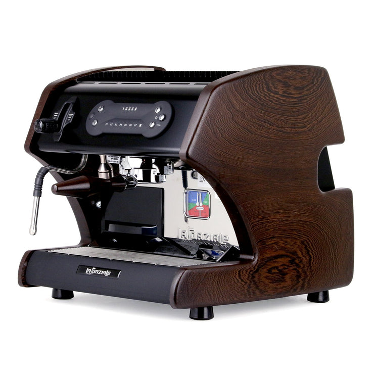 Lucca A53 Mini Espresso Machine in Black by La Spaziale from Clive Coffee wenge - Product Image