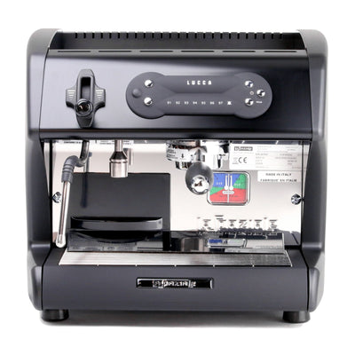 Lucca A53 Mini Espresso Machine in Black, front by La Spaziale from Clive Coffee - Product Image