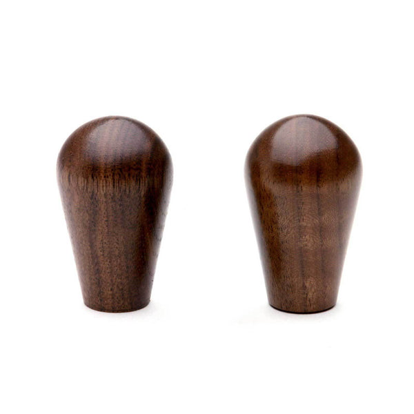 Wood Knobs in walnut, set of 2 from Clive Coffee - Knockout (Walnut)