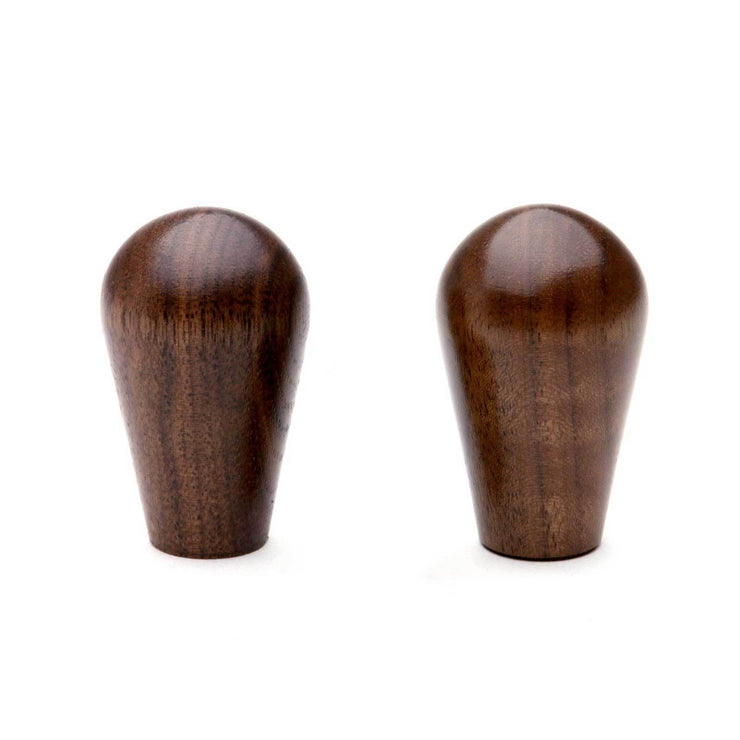 Wood Knobs in walnut, set of 2 from Clive Coffee - Knockout