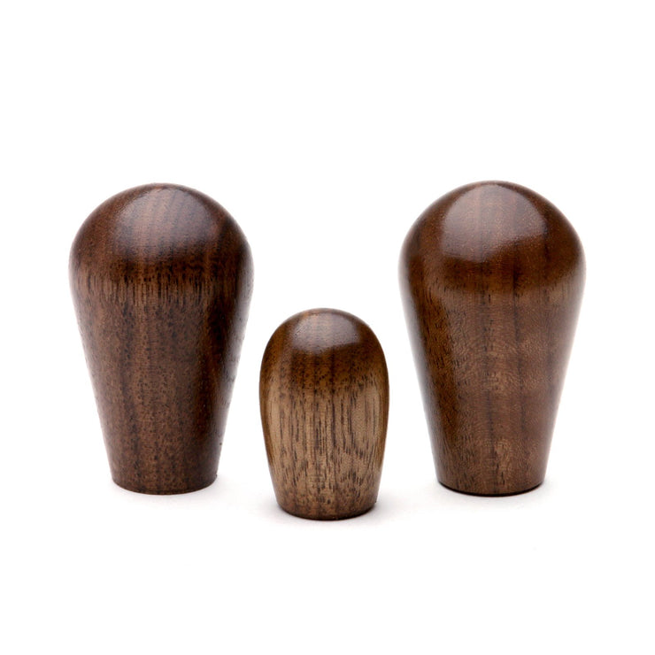 Espresso Machine Wood Knobs (Set of 3) in Walnut from Clive Coffee - Knockout