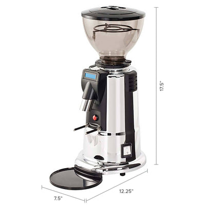 MACAP M4D Digital Doserless Espresso Grinder chrome dimensions by Clive Coffee - Product Image