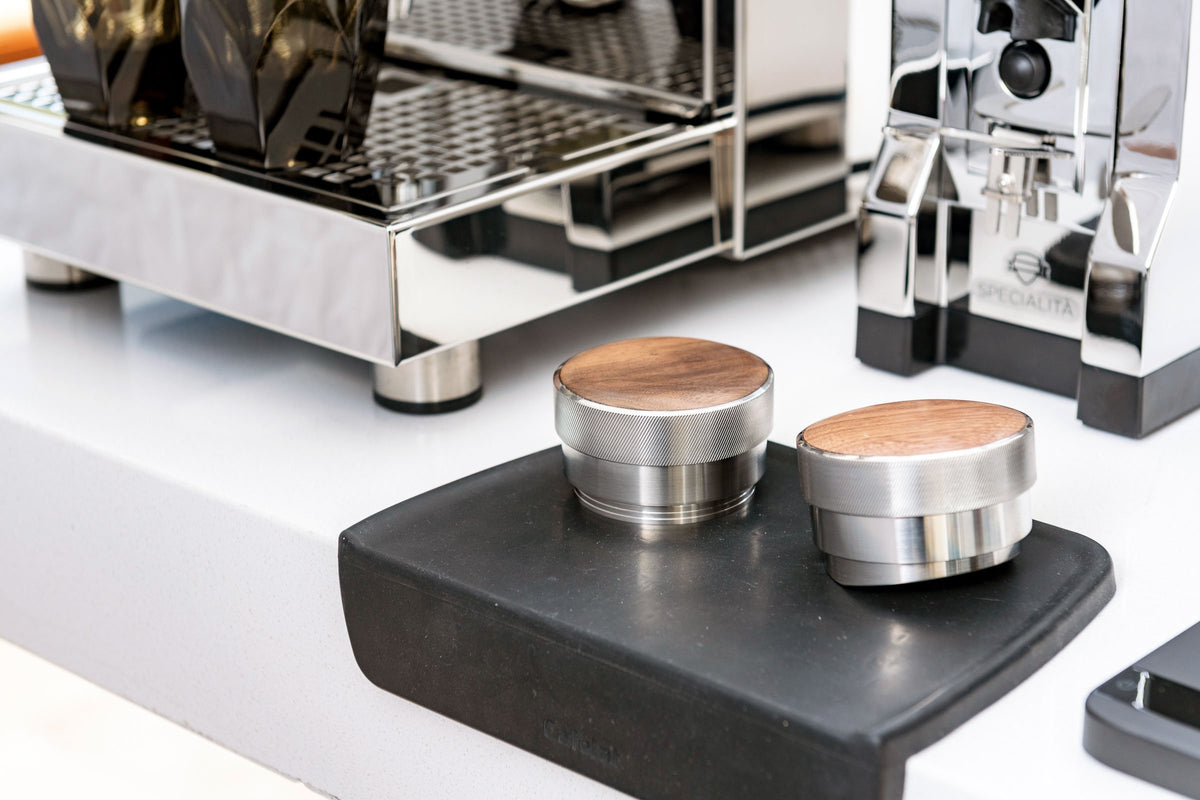 Saint Anthony Industries Levy Tamper and BT Wedge Distributer Tool with Intelligentsia coffee - lifestyle