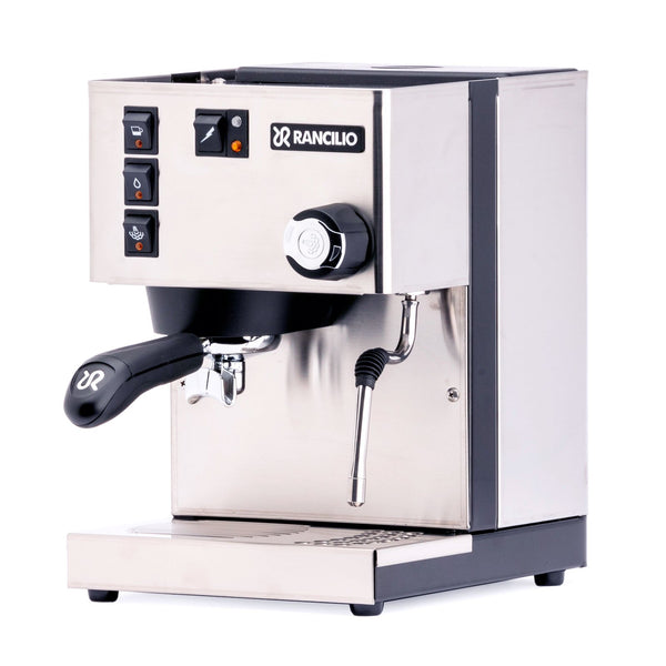 Rancilio Silvia Espresso Machine front, Clive Coffee - Knockout