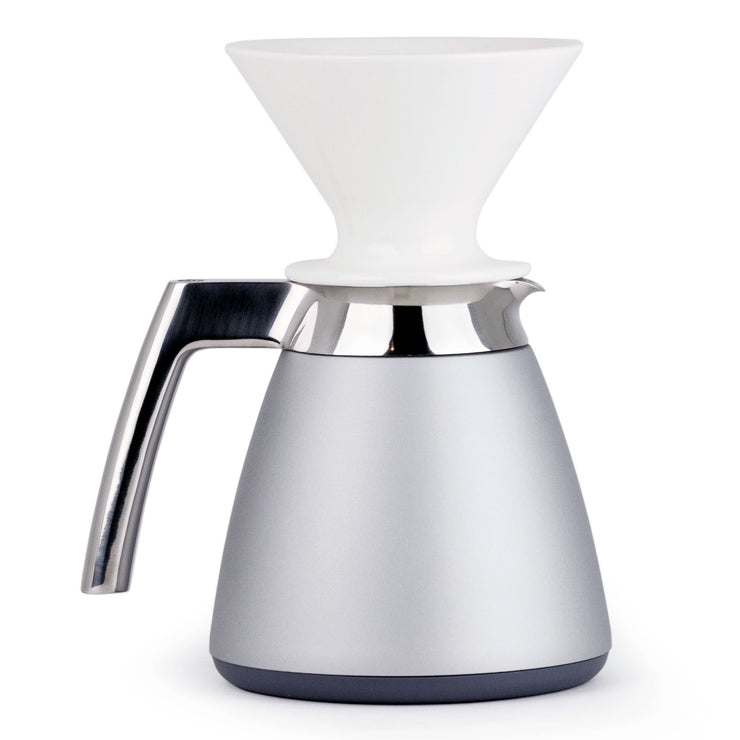 Ratio Thermal Carafe in Bright Silver from Clive Coffee - Product Image
