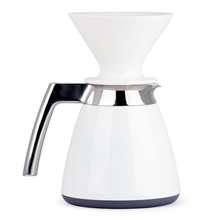 Ratio Thermal Carafe with Ceramic Dripper in White, Clive Coffee - Knockout