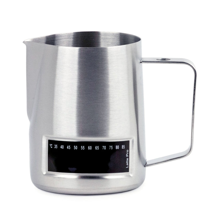 Rhino Coffee Gear temperature sensing milk steaming pitcher, 16oz, Clive Coffee - Knockout