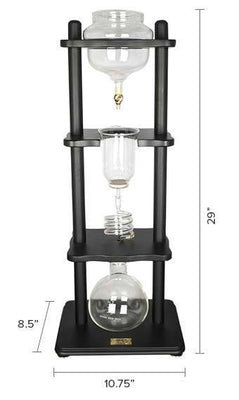 Yama Cold Brew Drip Tower dimensions from Clive Coffee - Product Image