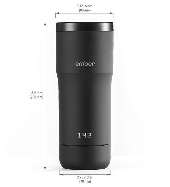 Ember Travel Mug dimensions from Clive Coffee - Product Image