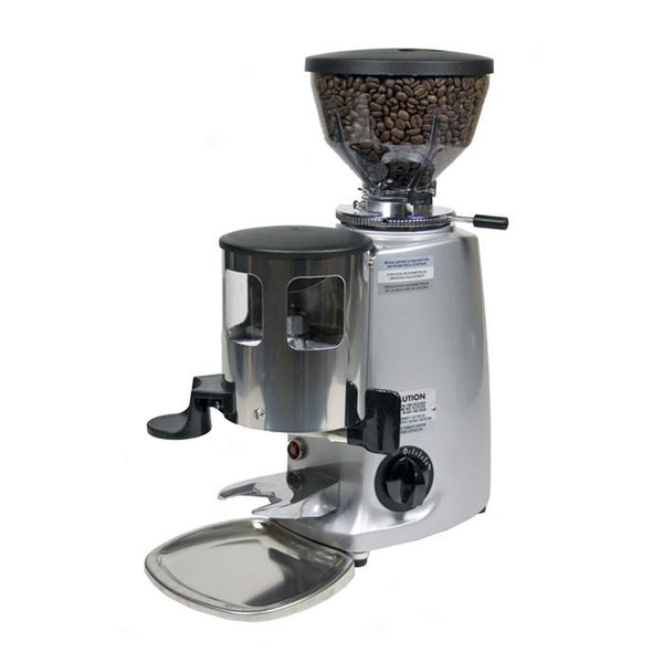 Mazzer Mini Espresso Grinder in silver, Clive Coffee - Knockout