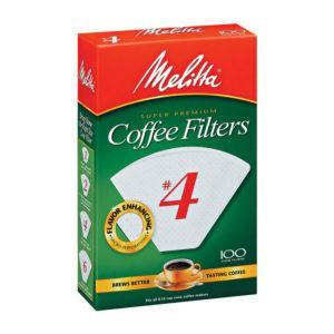 Melitta Cone Coffee Filters No. 4 White, Clive Coffee - Knockout
