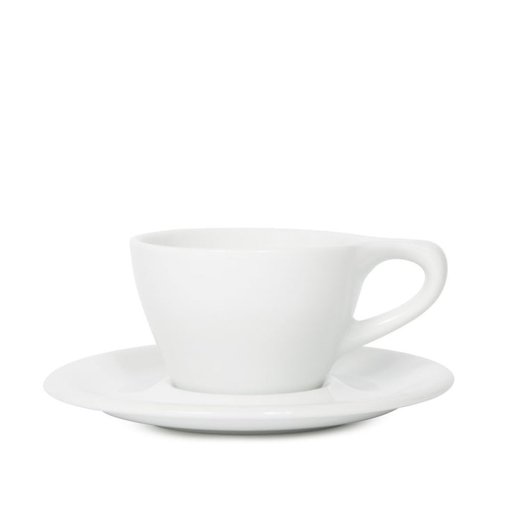 notNeutral LINO Cappuccino Cup & Saucer, White, Clive Coffee - Knockout