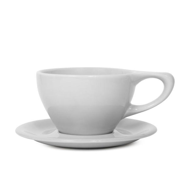 notNeutral LINO Latte Cup & Saucer, White, Clive Coffee - Knockout