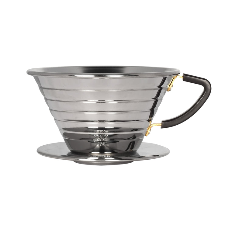 Kalita Wave Stainless Steel Coffee Dripper, Clive Coffee - Knockout