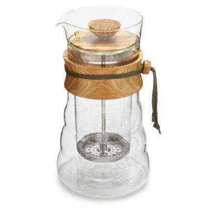 Hario Double Wall Glass French Press, Clive Coffee - Knockout