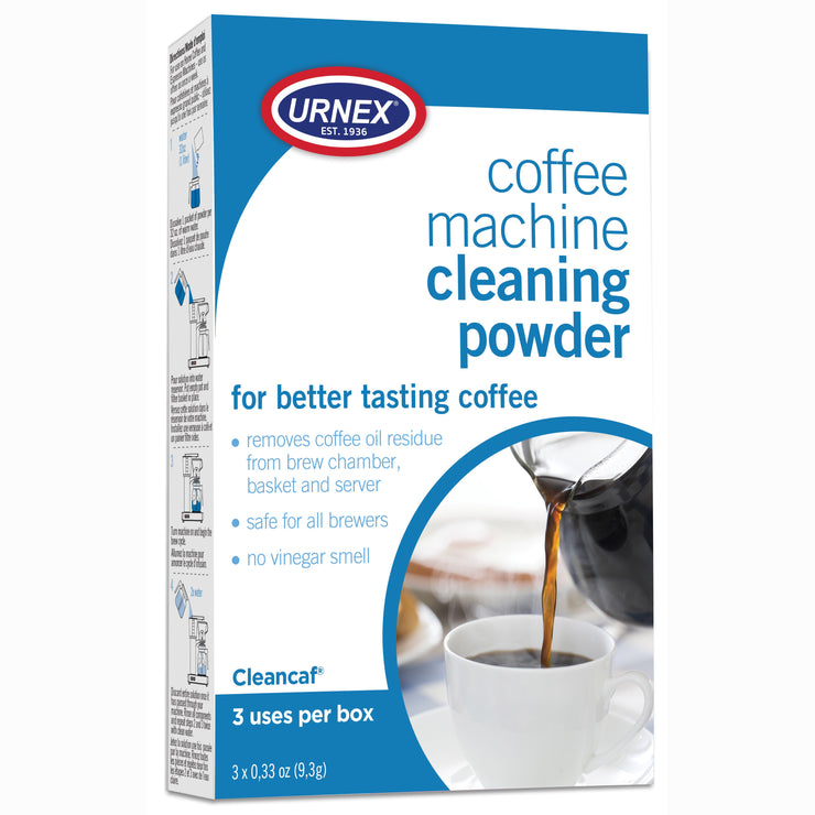 Urnex cleancaf coffee machine cleaning powder 3 pack, Clive Coffee - knockout