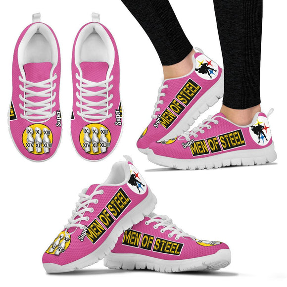 Steelers Super Men of Steel Hot Pink