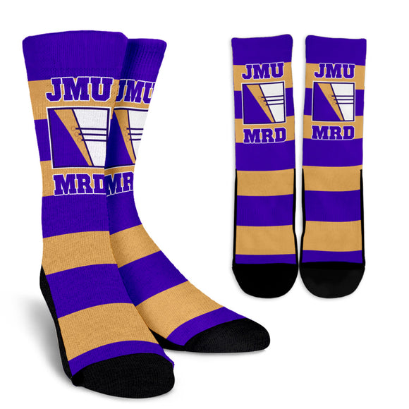 JMU MRD Stripe Socks