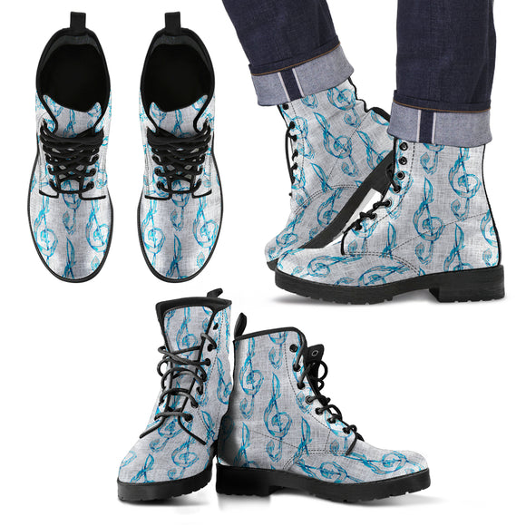 Treble Clef Men's Leather Boots