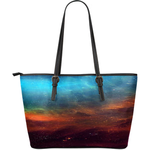 NP Universe Leather Tote Bag
