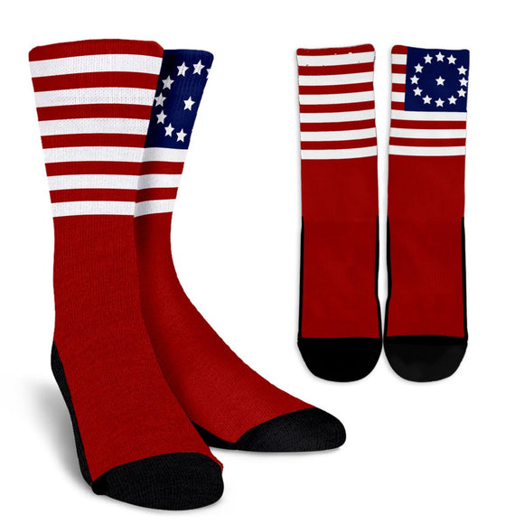 13 Star Flag Socks