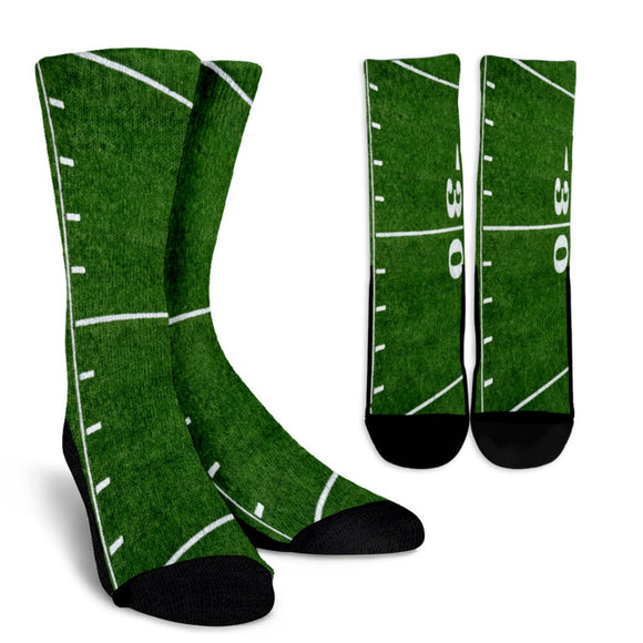 Football Thirty Yard Line Socks