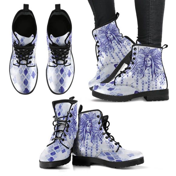 Sketched Fairy  - Women's Vegan Boots