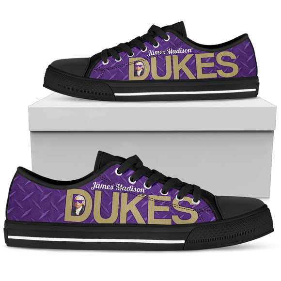 JMU Purple Steel Dukes Low Black