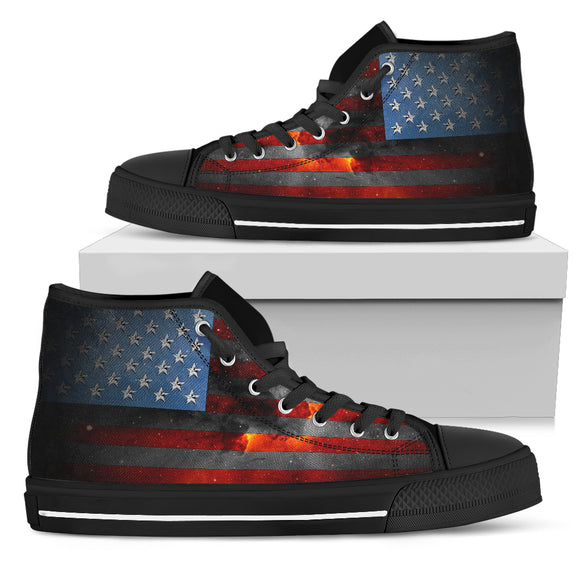 American Space Flag Women's High Top Shoes