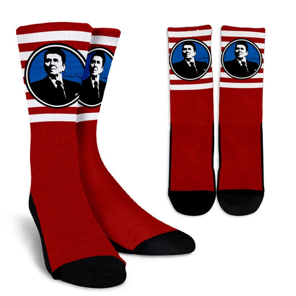 Ronald Reagan USA Socks