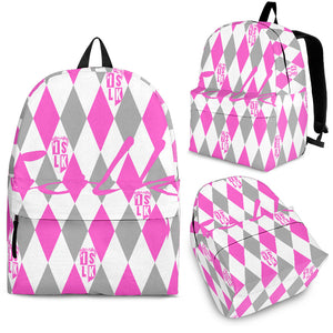 Pink Argyle Backpack