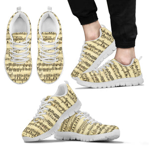 Sheet Music Sneakers For Men Whote Top