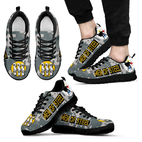 Steelers Super Men of Steel Camo Running Shoes