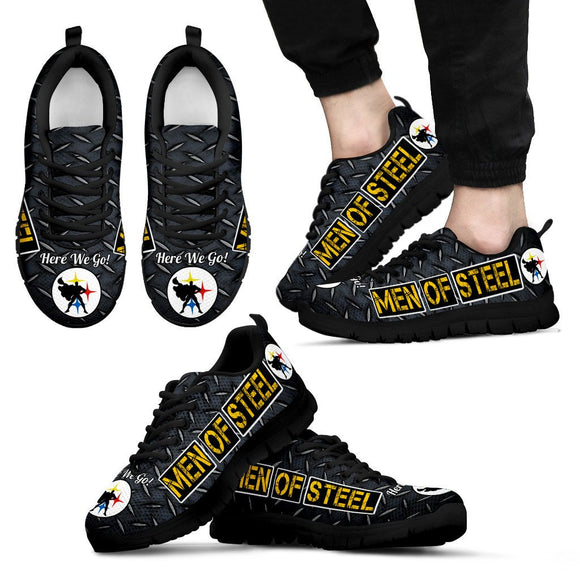 Steelers Men of Steel Black Diamond Plate Men's BLK