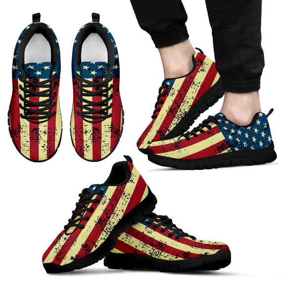 American Flag Men's Running Shoes